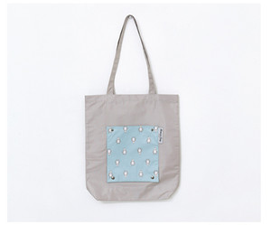 Foldable Shopping Bags Large Capacity Reusable Storage Bag waterproof Shoulder Tote Bags Travel Organizer 4Colors CCA2725