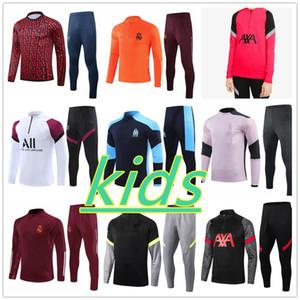 Tuta da allenamento per bambini 2020 2021 Marsiglia Real Madrid Roma chandal futbol 20/21 camiseta de futbol kids