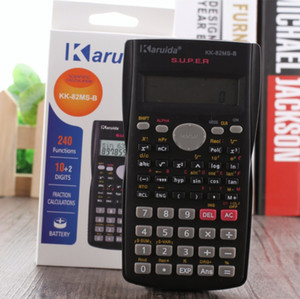 Recentemente Handheld Student Scientific Calculator 2 Linea display multifunzionale portatile 82MS Calcolatrice per l'insegnamento della matematica
