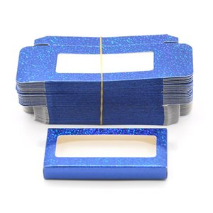 wholesale false eyelash packaging Blue paper Box lash boxes packaging custom logo faux cils 25MM Mink eyelashes Cosmetic Case Vendors