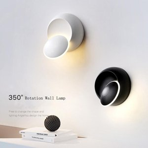 360 Degree Rotation Switch LED Wall Lamp Warm Lighting Creative Indoor Lighting AC 110-220V Hotel Corridor Aisle LED Wall Lamp