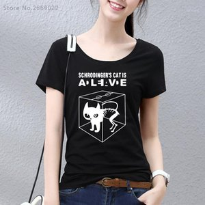 Wholesale- Girls HanHent The Big Bang Theory Schrodinger's Cat T-shirts Women Swag Funny Cotton Short Sleeve Tshirts New Style T shirt1
