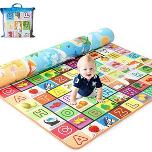 200*180cm Foldable Cartoon Baby Play Mat Eva Puzzle Children's Mat Baby Climbing Pad Kids Rug Baby Games Mats Send Storage Bag Z1123
