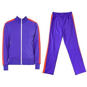 angel Erkek Eşofman Güz Kış 2 Iki Parçalı Eşofman Katı Fermuar Ceket Hoodies Tayt Pantolon Joggers Bodysuit Spor Womens Ter S4Z2L