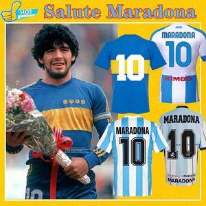 Maradona Retro BOCA Juniors 1981 Argentinien Diego Maradona 1978 1986 1994 Napoli 88 89 90 91 Fussball Jersey Retro Football Hemd