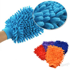Cotton Fiber Double-sided Car Cleaning Cloth Easy to Dry Soft Cleaning Car Wash Glove Plush Car Cleaning Tools BH4405 WXM