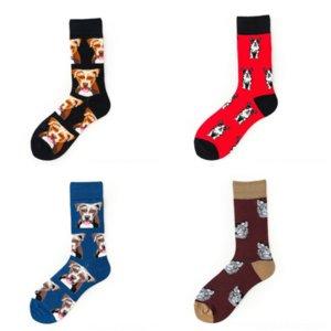OPHT Farben Hohe kurze Massivfarben Socken Marke Design Baumwolle Atmungsaktive Männer Anti-Smelly Weihnachtsdekoration Socke Qualität Lässig Mann