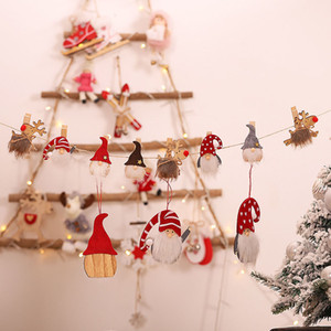 Christmas Faceless Santa Shaped Wooden Pegs Pack of 3 Clips Decoration Handicrafts Photos Papers Clothes Pegs