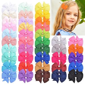 40 Colors Baby Girl Hair Bow With Clips Kids Hair Clips Accessories Hairpin Hairband Ins New 2 Inch