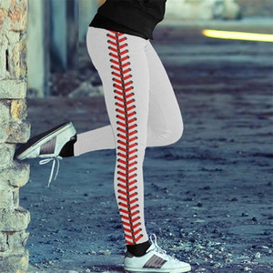 S-3XL Softball Leggings Femmes Dames Sport Pantalons Spandex Teggings Néon Softball Stitch Yoga Sports Pantalon Pantalon Pantalon E122307