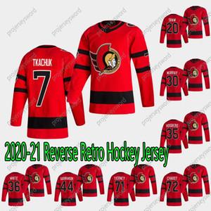 2020-21 Retro Retro Brady Tkachuk Hockey Jersey Ottawa Senadores Derek Stepan Bobby Ryan Nikita Zaitsev Chris Tierney Thomas Chabot Jerseys