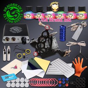 Complete Beginner Tattoo Kit Tattoo Machine Gun Immortal Inks Set Mini Power Needles Supplies