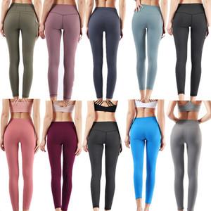 2021 Envío gratis Pantalones de yoga LU-32 mujeres sólidas Pantalones de yoga High Cintura Sports Medias Entrenamiento Outfits de deportes deportes