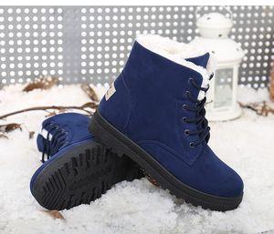 Botas de tobillo de invierno para las mujeres zapatos femeninos botas de nieve calzado caliente