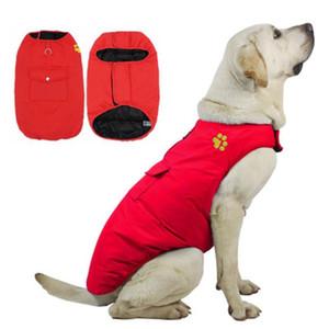 Big Dog Vestiti invernali Vestiti invernali Giacche calde Impermeabile Gilet caldo a doppia faccia per Teddy Golden Retriever Bulldog DHL spedizione