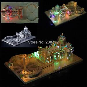3D Metallo Puzzle Italia St. Peter's Basilica Chiesa Architectural Miniature Building Model FAI DA TE Taglia laser Assemblare Jigsaw Giocattoli Y200421
