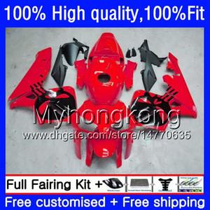 Инъекция Для HONDA CBR 600RR CBR600F5 CBR600RR 2005 2006 48HM.277 CBR600 RR 05-06 CBR 600 CC 600F5 600cc F5 Череп красный 05 06 OEM зализ