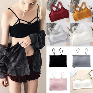 Hot Sale Sexy Exquesite Cotton 1PC High Quality Elastic Free Size 3 Styles Women Cross Back Of Body Anti-emptied Bra Gifts1