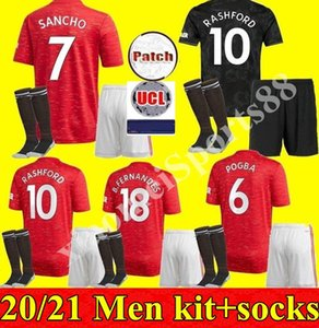 New 2020 2021 Manchester LINGARD Soccer Jerseys POGBA United RASHFORD MARTIAL DE GEA Home Away 3rd Men kit 20 21 Football Shirt