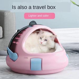 Ninho moderno do gato do espaço simples do ninho do sono e do sono profundo no inverno semi fechado canil gato saco portátil animal de estimação