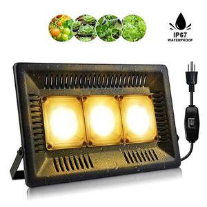 Hot new 450W Square full spectrum Led Grow Light black High Efficiency COB Technology Waterproof Grow Lights CE FCC ROHS