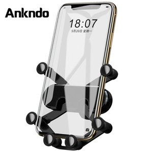 K18 Gravity Car Holder 6 Support Phone Holder In Car Air Vent Mount Clips Universal Mobile Auto-Grip Cellphone GPS
