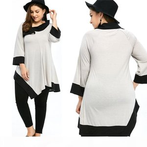 Women Clothes T-Shirts Loose Cotton Tops T Shirt Big Size Fashion Fat Women Ladies Clothing Summer Irregular Shirt Casual