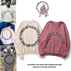 2020 nuevos diseñadores para hombre Hoodie Lujos de lujo Servicio Domingo Spirit Holy Spirit CPFM Corbata Dominical Teñido Hombres y Suéter para mujer Tres dimensiones Impresión Hola