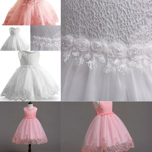 Toddler Baby Top Flower Girl Infant Princess Dress Baby Girl Wedding Dress lace tutu Kids Party Vestidos for 1st birthday Y18102007