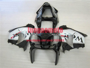 Free Custom Motorcycle fairing kits for white blk west Kawasaki bodywork Ninja ZX9R 2002 2003 Fairings kit ZX 9R 02 03 ABS plastic bodykits