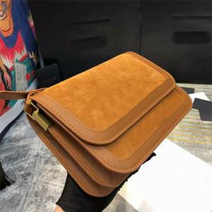 Обновлено New Luxurys Crossbody Сумки замша Шищеные Кожаные дизайнеры Сумки на плечо Сумки Золотая пряжка Аппаратное обеспечение Baguette Long Rest Criss Cross # 1