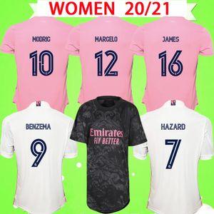 Женщины 2020 2021 Реал Мадрид Грильс Футбол Футбол 20 21 Главная Прочь Третья розовый бензема Bale Hazard Zidane Sergio Ramos Дамы Футбольные футболки