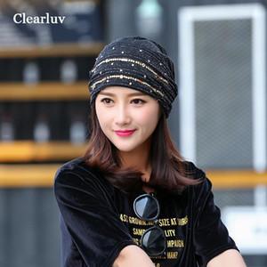Chapeaux ClearLuv pour Femmes Bucket Hat Gorros de Invierno Para Bebe Dentelle Dentelle respirante Capuchon Casquettes Turban pour femmes Turban1