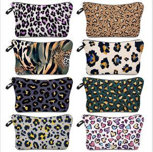 Cosmetic Bag Leopard Digital Printing Makeup Bag Ladies Storage Bag Simple Fashion Travel Pouch Wallets Totes Zipper Handbag E120407