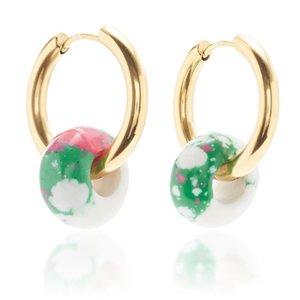 Simple Colorful Enamel Bead Earrings Handmade Stainless Steel Earrings Elegant Ladies Exquisite Fashion Accessories Jewelry
