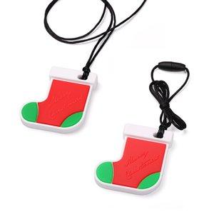 Silicona Mesas de Navidad Calcetines de Navidad Baby Silicone Dientes de silicona BPA Regalos de enfermería gratis Masticar collar Roedor Tristeza Juguetes