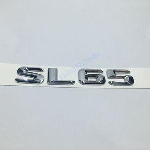 Couvercle du coffre Emblème arrière Badge Chrome Lettres SL 65 pour Mercedes R230 R231 SL SL65