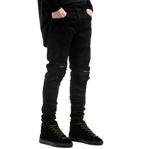 Mens Jeans European and American Style Men Slim Elastic Jeans Trousers Casual Men Jean Fashion New Solid Color Washed Pencil Pants 5 Colors