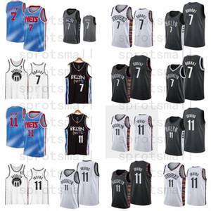 Kevin 7 Durant Basketball Jersey Mens Kyrie Nouvelle ville 11 Irving Blue Blanc Blanc Chemise sans manches