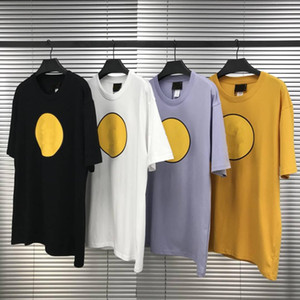 Hommes Tshirt High Street Style Homme Mens manches courtes à manches rondes Coton Tee Tee Asiatique Taille S-XL