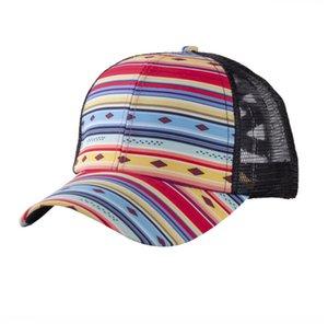 Ponytail Baseball Caps Buffalo Plaid Criss-Cross Hats Hollow Out Baseball Cap Tartan Ponytail Snapback Hat Women Mens Summer Visor OOC87