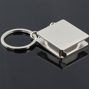 Portable Alloy Practical Tape Measure Shape Keychain Tool Simulation Key Chain Rings Stainless Steel Best Gift Unique Firm