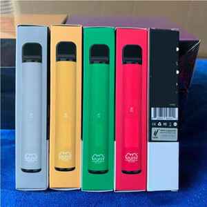 Stock Puff Bar Plus 일회용 전자 카트리지 vape 펜 550mAh 배터리 3.2ml vape pods e cigs 휴대용 기화기 장치