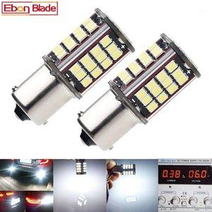 쌍 1156 BA15S P21W LED 자동 빛 2835 56 SMD 조명 백업 역방향 회전 신호 전구 램프 DRL Voiture 자동차 스타일링 화이트 6V DC1