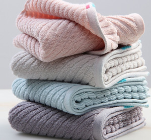 solid color Towel pure cotton thickened towels household adult couple soft absorbent face towels gift 4 colors 32*72cm