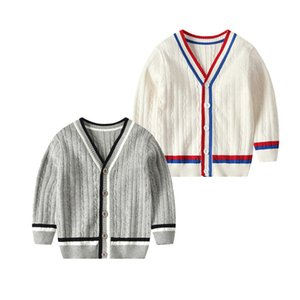 Fashion Girls Sweaters Cardigan Cotton Casual Tops Comfortable Patchwork Kids Unisex Clothes 2-7 Ys Autumn Winter