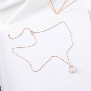 Elegante mengjiqiao Nuovo splendente zircone cerchio cerchio ciondoli donne estate moda gioielli corti collana corta IXVS