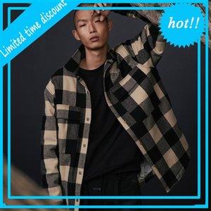 20fw fg treillis shirts jerry veste hip skateboard hip hop vestes printemps automne hommes femmes couple mode de mode hfymcs031