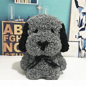 Moda Yaratıcı Hediyesi 40cm Gül Pug Dog Yeni Eternal PE Kabarcık Gül Tanabata Sevgililer Günü El Yapımı Sabun Çiçek PE Çiçek Köpek