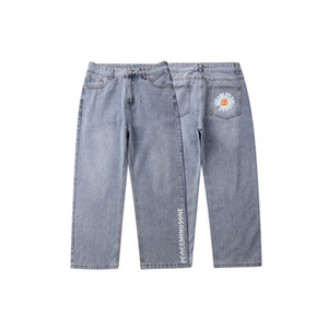 2020 all-match little Daisy nine-point jeans men's fashion straight tube PA daddy pants NXN3